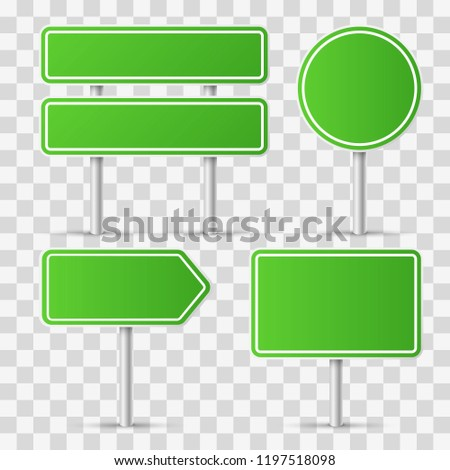 Road signs. Vector illustration #1197518098