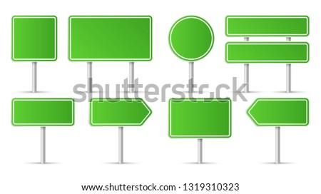 Road signs. Vector illustration #1319310323