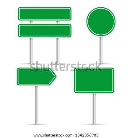 Road signs. Vector illustration #1342356983