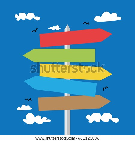 Road signs / Vector illustration design #681121096