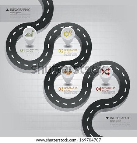 Road & Street Business Infographic Design Template