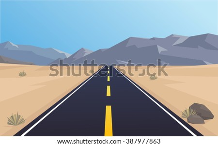 road through a desert and