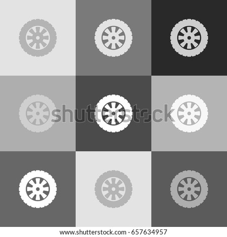 road tire sign vector