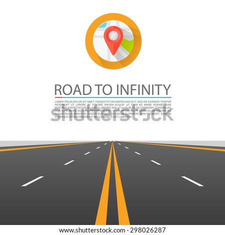 road to infinity  road vector