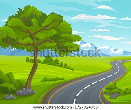 road to the mountain scenic