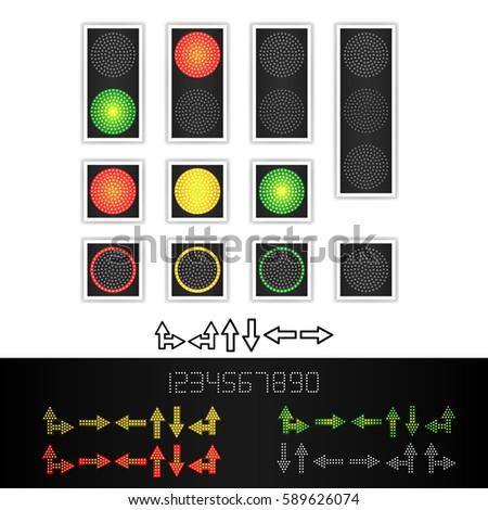 road traffic light vector