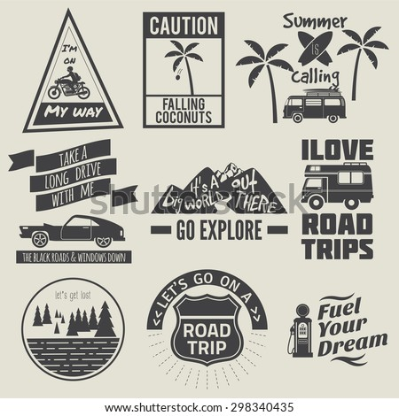 road trip badges,travel quote