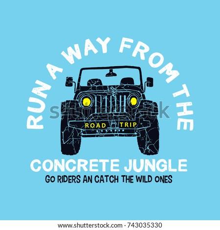 road trip car jungle