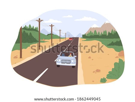 road trip concept freedom of
