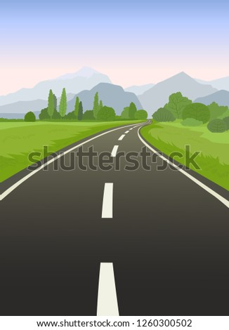 road trip flat hand drawn