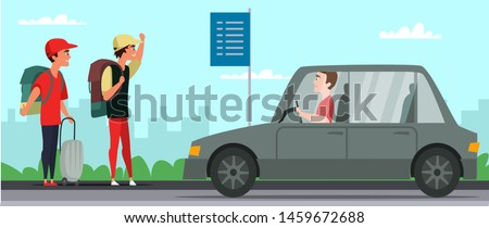 road trip  hitchhiking flat