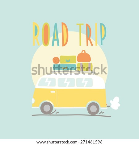 road trip vector illustration