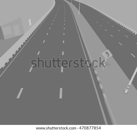 Road underpass vector transportation background