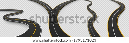 road  winding and fork highway
