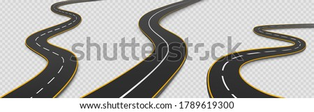 road  winding highway isolated