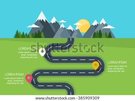road with markers  vector