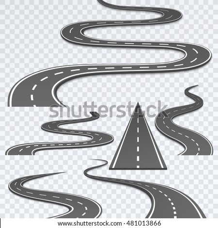 road with white stripes on a