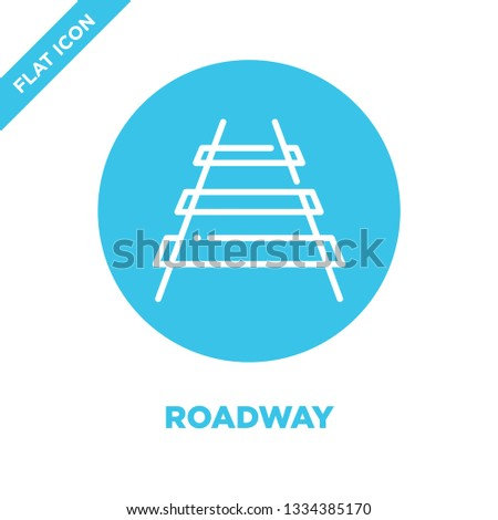 roadway icon vector. Thin line roadway outline icon vector illustration.roadway symbol for use on web and mobile apps, logo, print media.