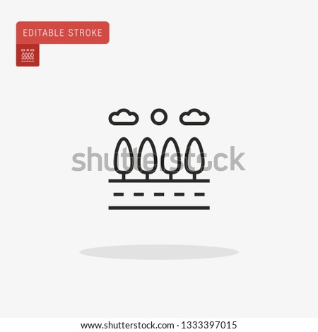 Roadway Simple vector icon. Illustration symbol design template for web mobile UI element. Perfect color modern pictogram on editable stroke. Roadway icons for your business project