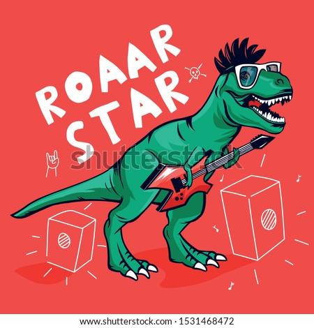 roar starrock star dinosaur