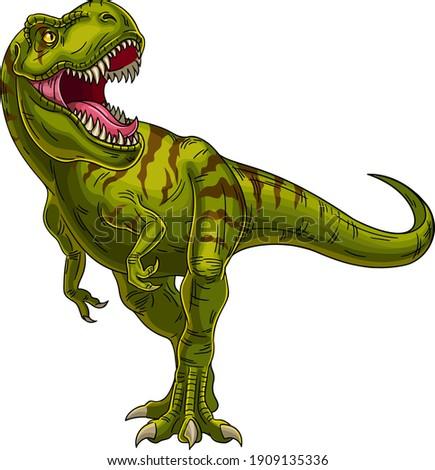 roaring tyrannosaurus mesozoic