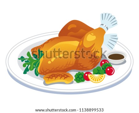 Roast turkey clip art