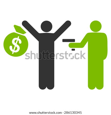 robbery icon from business