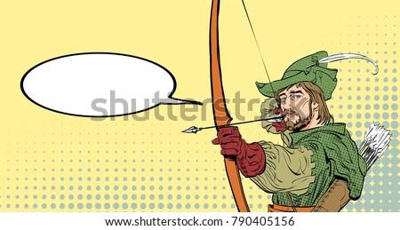 robin hood aiming on target