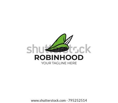 robin hood hat logo template