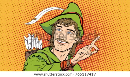 robin hood in a hat with