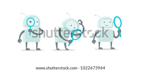 robot alien character with