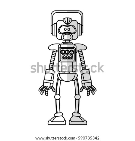robot cartoon icon