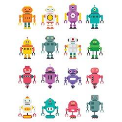 Robot Character Vector Illustration.