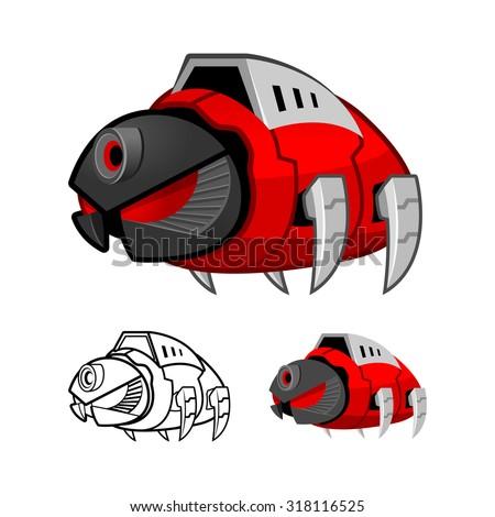 robot cockroach cartoon