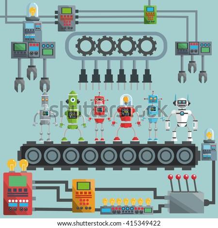 robot design industry concept