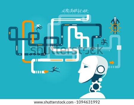 robot developing and organising