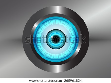 robot digital blue eye  vector