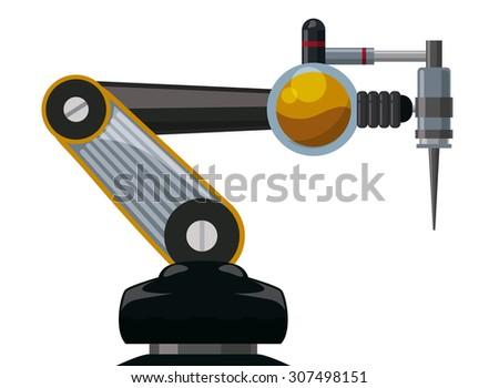 robot digital design  vector