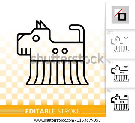 robot dog thin line icon