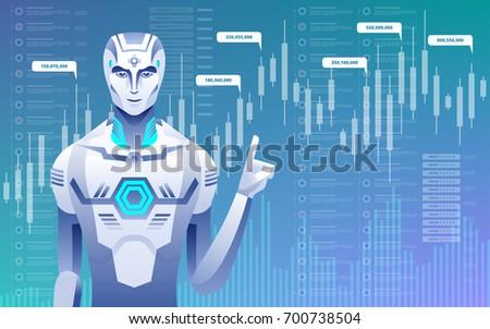 robot forex tradings vector