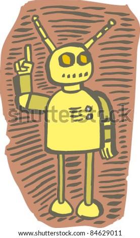 Robot gesturing alert
