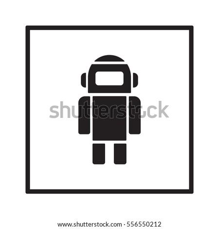 robot icon flat design