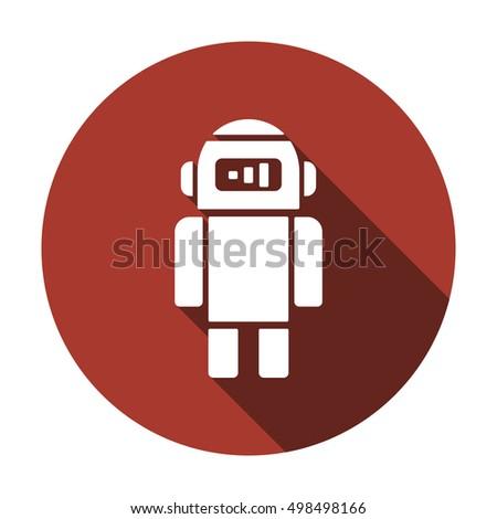 robot    icon   isolated flat