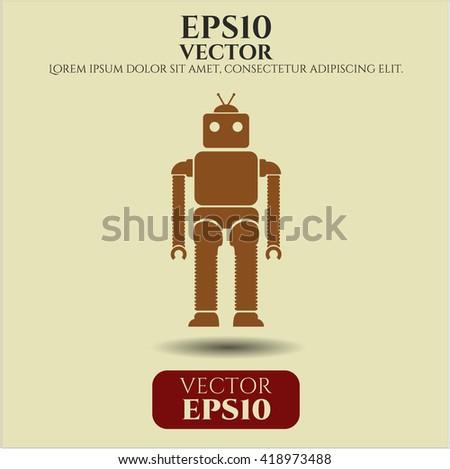 Robot icon or symbol