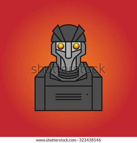robot icon or symbol  vector