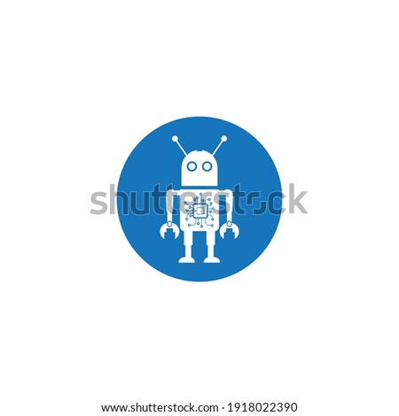 Robot icon, vector concept illustration for design logo background.