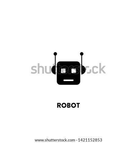 robot icon vector. robot sign on white background. robot icon for web and app