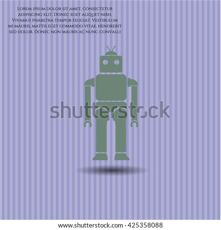 robot icon vector symbol flat eps jpg app web concept website