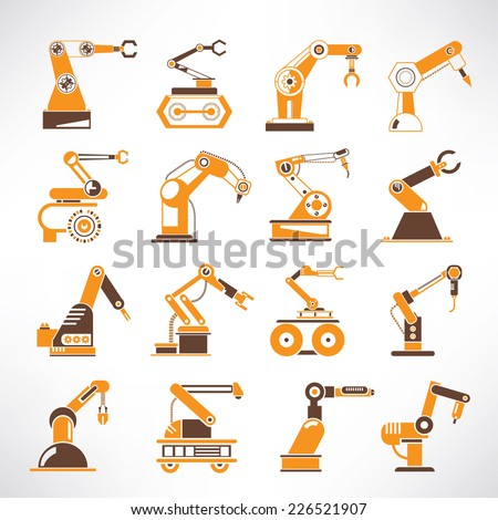 robot icons  robotic arm icons