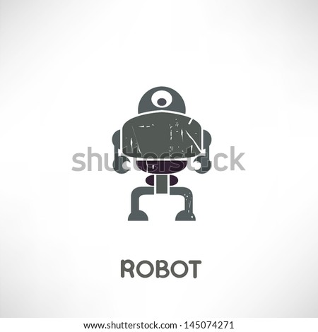 robot in grunge style